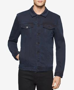 Men's Twill Trucker Jacket by Calvin Klein Jeans  in Animal Kingdom