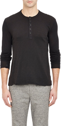 Jersey-Sleeve Henley Shirt by ATM Anthony Thomas Melillo in 99 Homes