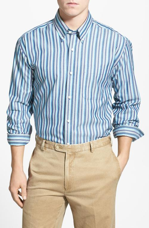 'Low Tide' Stripe Sport Shirt by Cutter & Buck in Yves Saint Laurent