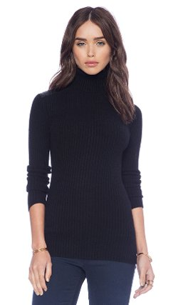 Rib Turtle Neck Sweater by Autumn Cashmere in John Wick