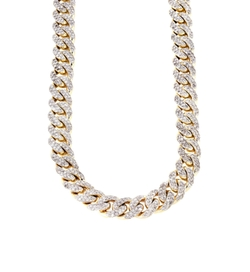 Iced Out Cuban Link Chain Necklace by Frost NYC in Empire