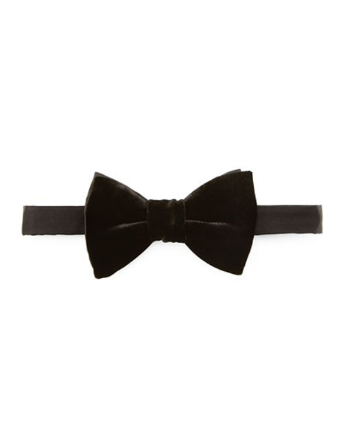 Classic Velvet Bow Tie by Lanvin in Spy