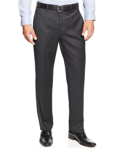 Flannel Flat-Front Dress Pants by Lauren Ralph Lauren in Ballers