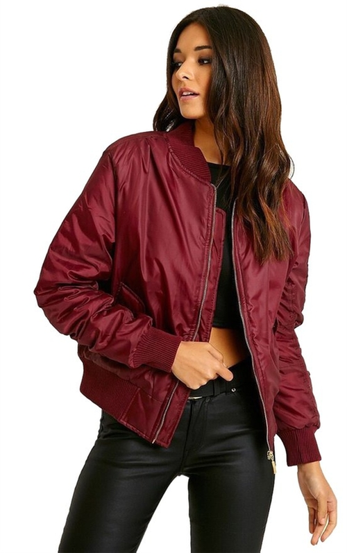 Women's Vintage Bomber Jacket by Luouse in Unbreakable Kimmy Schmidt - Season 2 Episode 9