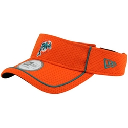 Miami Dolphins Pipe Up Adjustable Visor Hat by New Era in Ballers