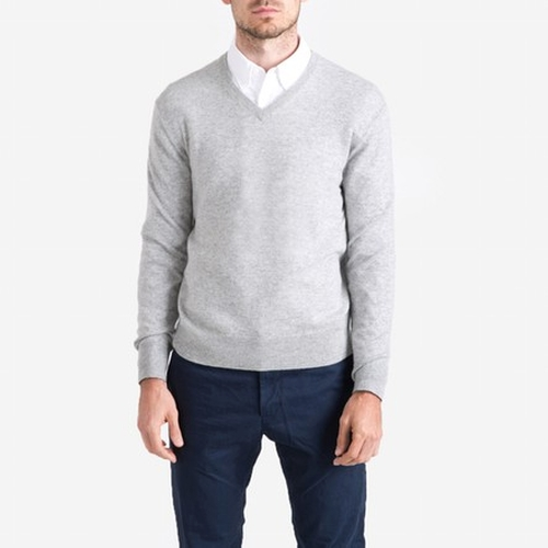 The Cashmere V-Neck by Everlane in Twilight