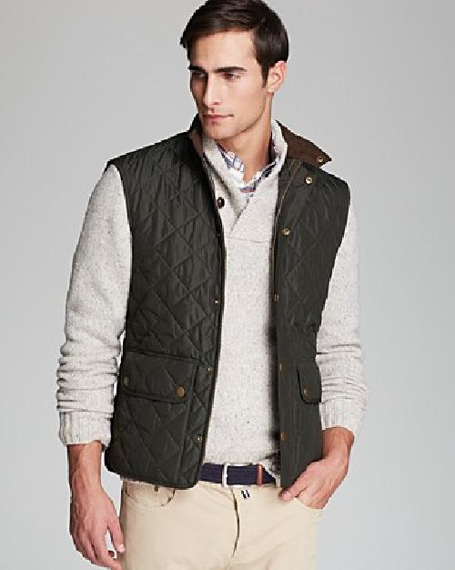 Quilted Polar Fleece Gilet Vest by Barbour Lowerdale in Sabotage