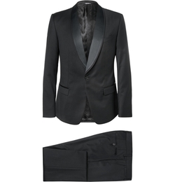 Slim-Fit Wool-Blend Three-Piece Tuxedo Suit by Dolce & Gabbana in Life