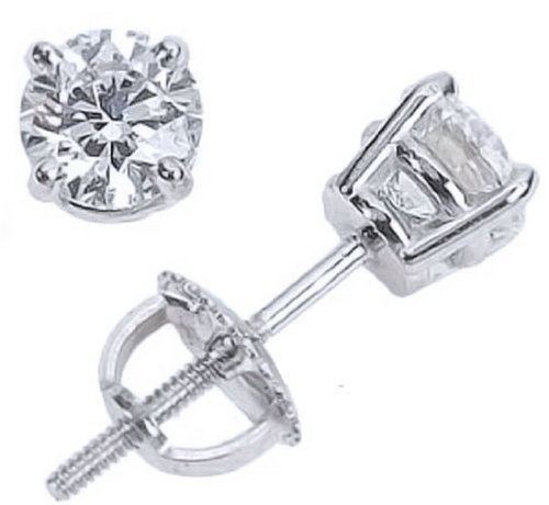 Diamond Stud Earrings by Houston Diamond District in Bridesmaids