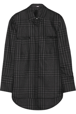 Plaid Wool And Cashmere-Blend Shirt by Adam Lippes in Secret in Their Eyes