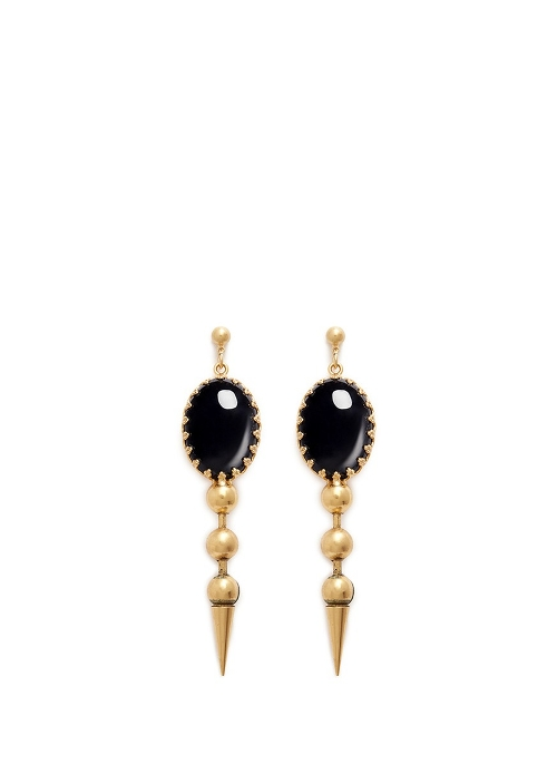 Perla Stone Spike Drop Earrings by Ela Stone in Fast Five