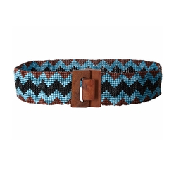 Beaded Chevron Belt by M & F Western in Sisters