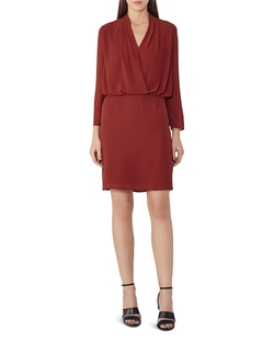 Blue Wrap Top Dress by Reiss in Mistresses