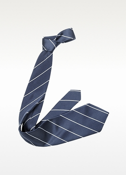 Pencil Stripe Silk Twill Tie by Forzieri in Sleeping with Other People