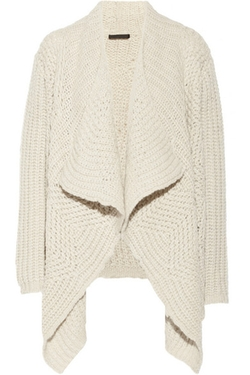 Draped Alpaca-Blend Cardigan by Donna Karan New York in Suits
