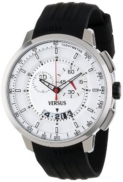 Men's Black Rubber Chronograph Watch by Versus by Versace in Fast & Furious 6