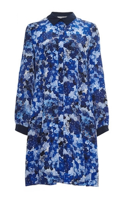 Silk Printed Collared Dress by Cacharel in Scream Queens