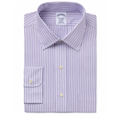 Men's Regent Classic-Fit Purple Striped Dress Shirt by Brooks Brothers in Silicon Valley