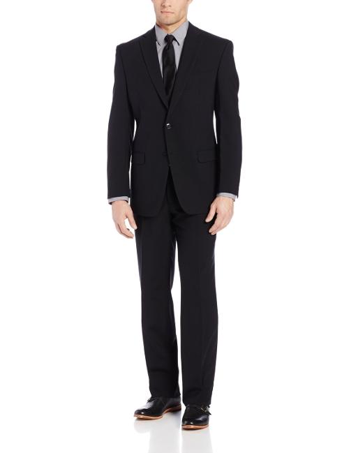 Men's Black Slim-Fit Suit by Calvin Klein in Terminator: Genisys