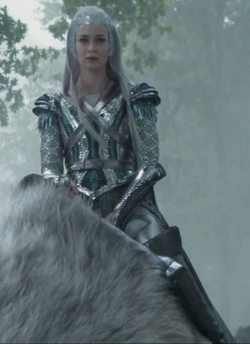 Custom Made 'Freya' Ice Queen Battle Armor by Colleen Atwood (Costume Designer) in The Huntsman: Winter's War