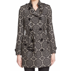 Kensington Lace Print Silk Trench Coat by Burberry London in The Flash