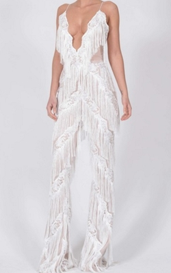 Lana Cami Fringe Jumpsuit by The Doll House in Keeping Up With The Kardashians