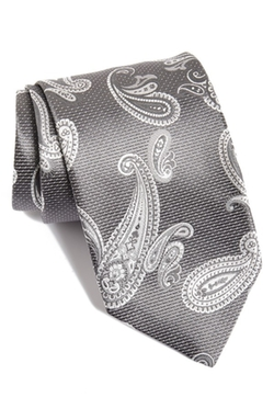 Paisley Silk Tie by David Donahue in Ballers