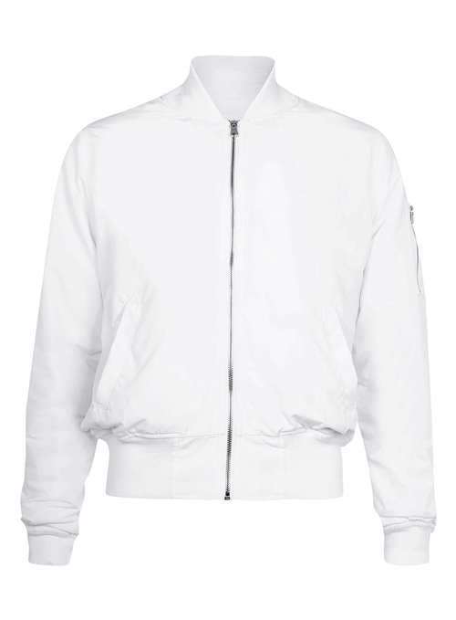 AAA White Ruched Bomber Jacket by Topman in Popstar: Never Stop Never Stopping