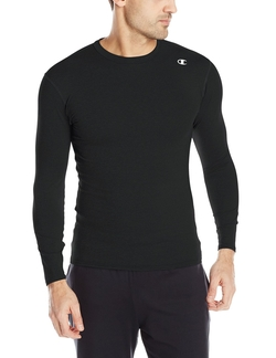 Double-Dry Long-Sleeve Compression T-Shirt by Champion in Creed