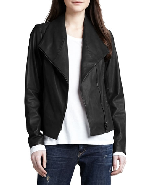 Leather Scuba Jacket by Vince in Mistresses - Season 4 Episode 3