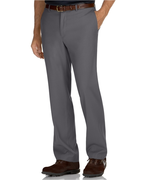 Portfolio Straight Fit No Iron Dress Pants by Perry Ellis in Atonement