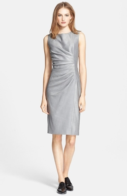 'Medusa' Ruched Seam Wool & Silk Dress by Max Mara in Suits