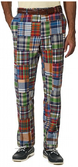 Madras Plaid Pants by Brooks Brothers in Sisters