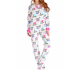 Plush I Love Sleep Print Footed Onesie by PJ Couture in Fuller House