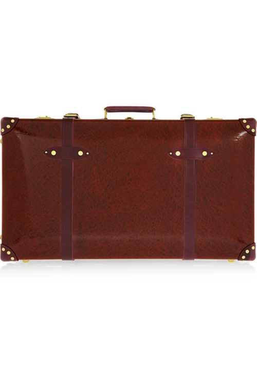 Lacquered Fiberboard Suitcase Bag by Globe Trotter in By the Sea