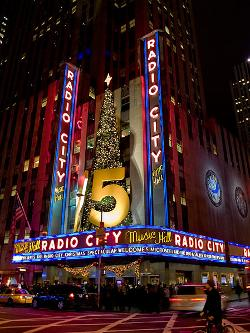 Manhattan, New York City by Radio City Music Hall in New Year's Eve