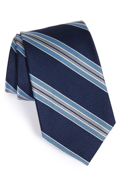 'Down Hill Skier' Stripe Silk Tie by Nordstrom in Scandal