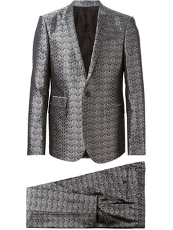 Geometric Jacquard Suit by Les Hommes in American Horror Story