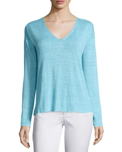 Taryn V-Neck Sweater  by Lilly Pulitzer  in Why Him?