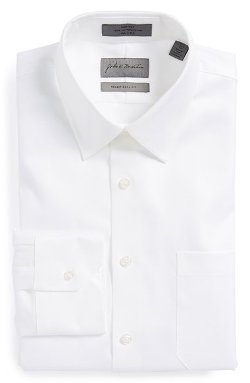 Traditional Fit Non-Iron Twill Dress Shirt by John W. Nordstrom in Hot Pursuit