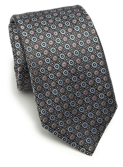 Circle Silk Tie by Saks Fifth Avenue Collection in Suits - Season 5 Episode 3