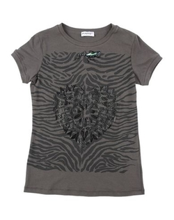 Printed Short Sleeve T-Shirt by Pinko Up in Black-ish