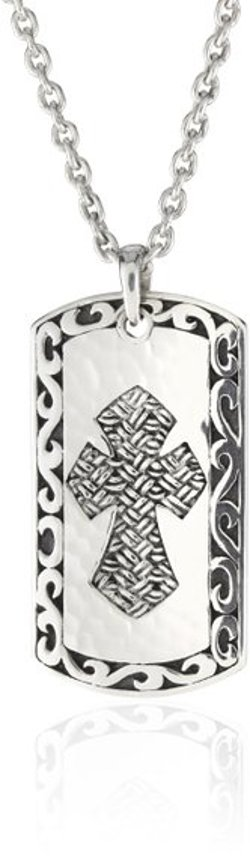 Thai Weave Tribal Cross Dogtag Necklace by LH Men in Furious 7