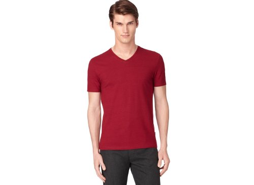 V-Neck Slim-Fit T-Shirt by Calvin Klein in If I Stay