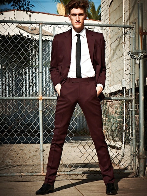 Burgundy Suit by Albert Hammond Jr. For Confederacy Suit in Crazy, Stupid, Love.