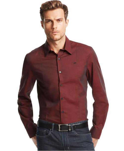 Long Sleeve Seamed Twill Shirt by Kenneth Cole New York in Jersey Boys