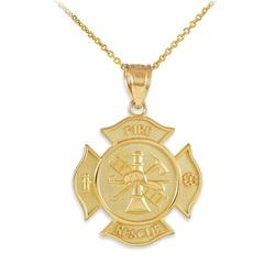 Rescue Firefighter Pendant Necklace by American Heroes in GoldenEye