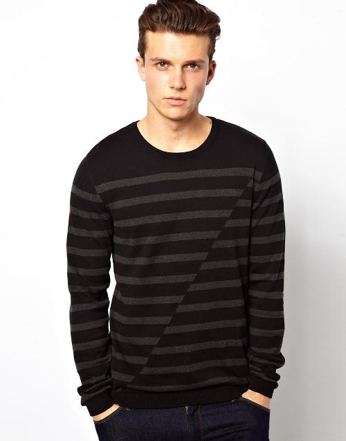Sweater With Stripe by Esprit in What If
