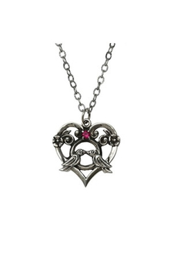 Lovey Dovey Pendant by Femme Metale Jewelry in Suits