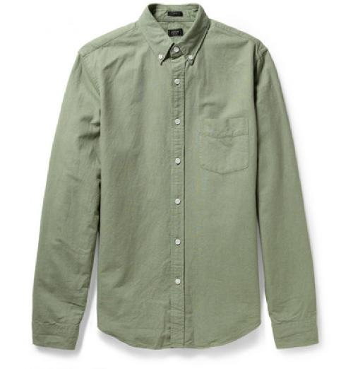SLIM-FIT BUTTON-DOWN COLLAR COTTON OXFORD SHIRT by J.CREW in Blended